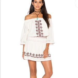 Tularosa off shoulder dress w/ embroidery